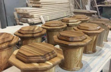 Лестницы из дерева (фото производства)