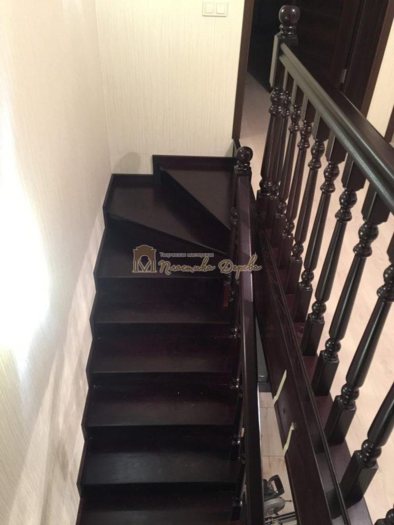 Фото 20 лестницы из ясеня с точоными балясинами