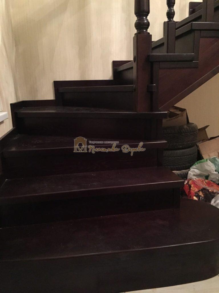 Фото 7 лестницы из ясеня с точоными балясинами