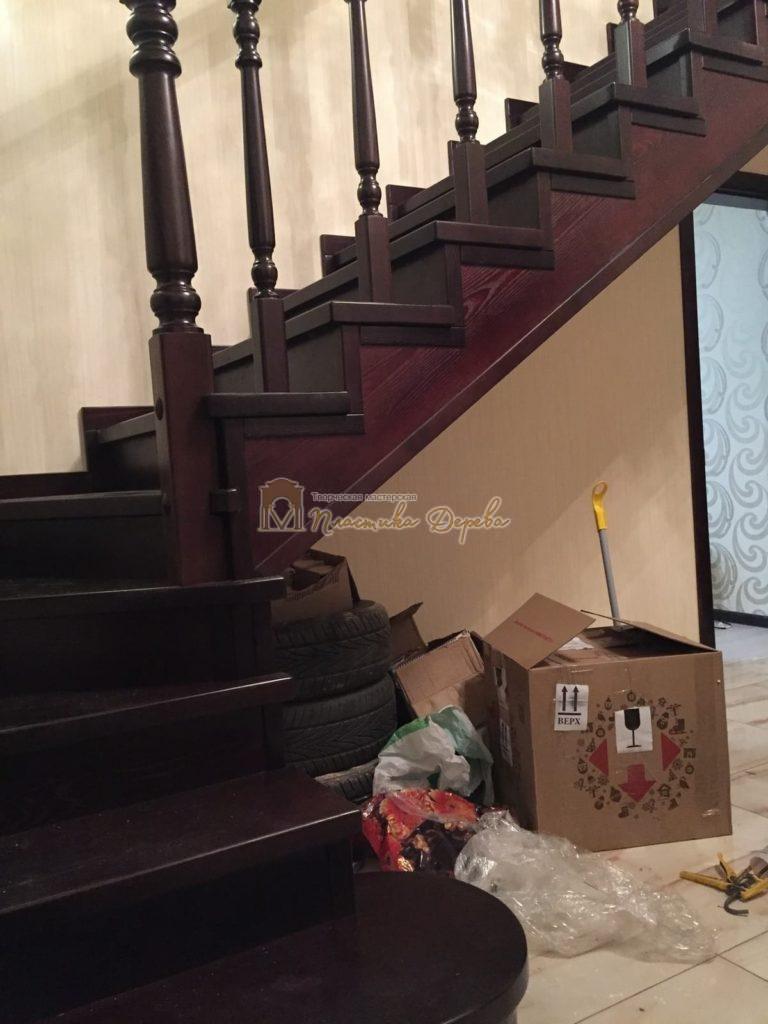 Фото 8 лестницы из ясеня с точоными балясинами