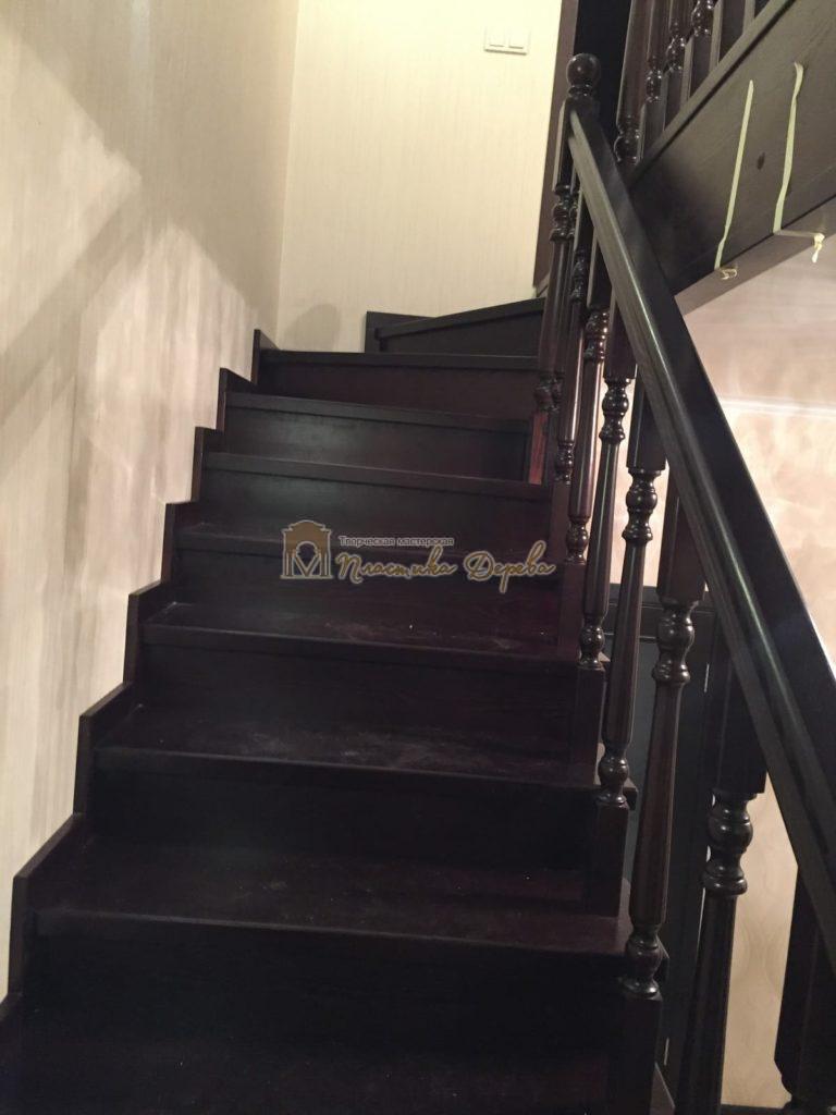 Фото 11 лестницы из ясеня с точоными балясинами