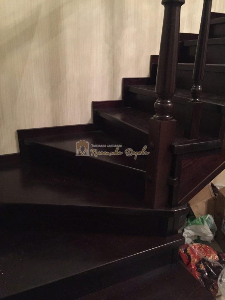 Фото 15 лестницы из ясеня с точоными балясинами