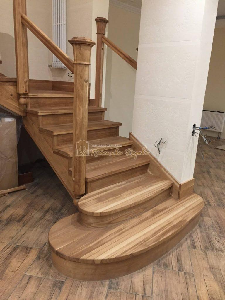 Фото 15 лестницы из дуба (покрытие масловоск)