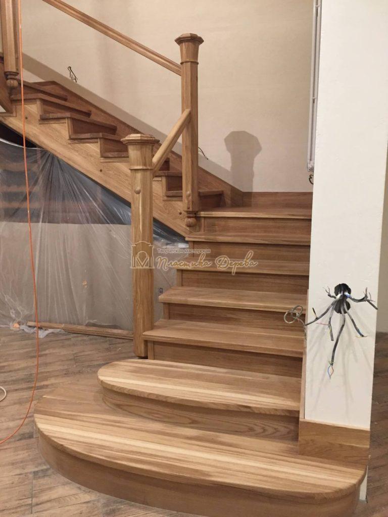 Фото 16 лестницы из дуба (покрытие масловоск)