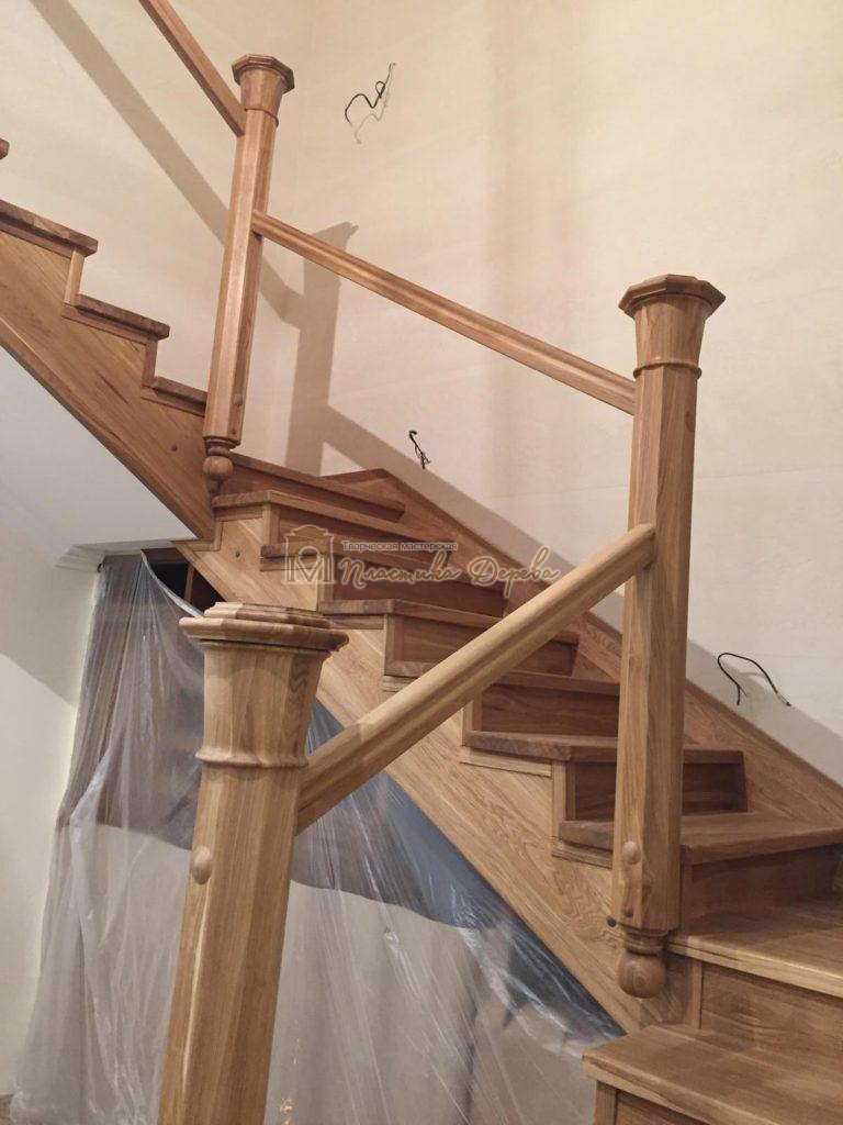 Фото 17 лестницы из дуба (покрытие масловоск)