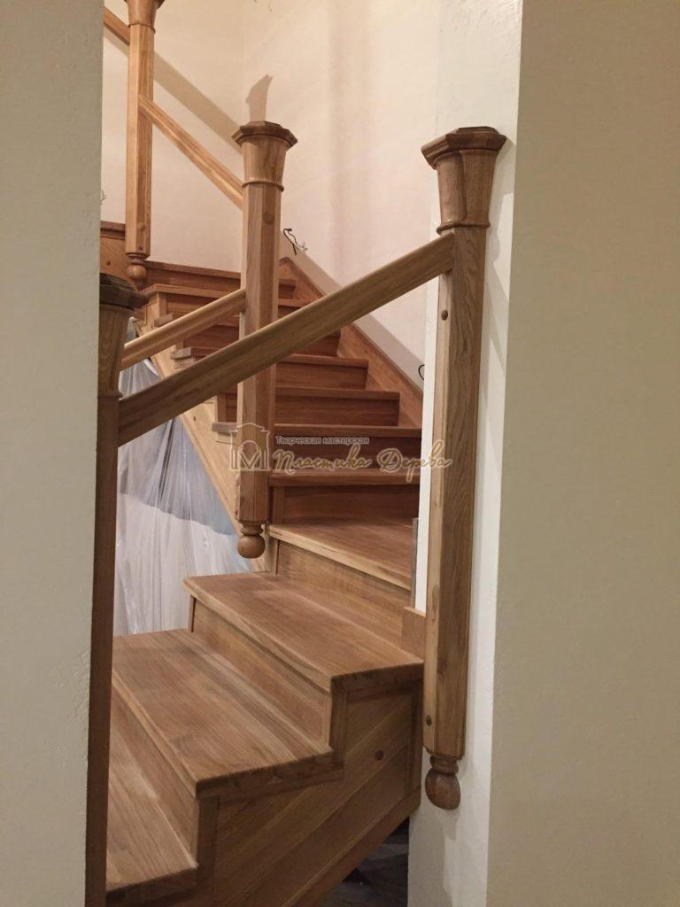 Фото 18 лестницы из дуба (покрытие масловоск)