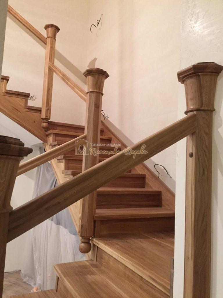 Фото 19 лестницы из дуба (покрытие масловоск)