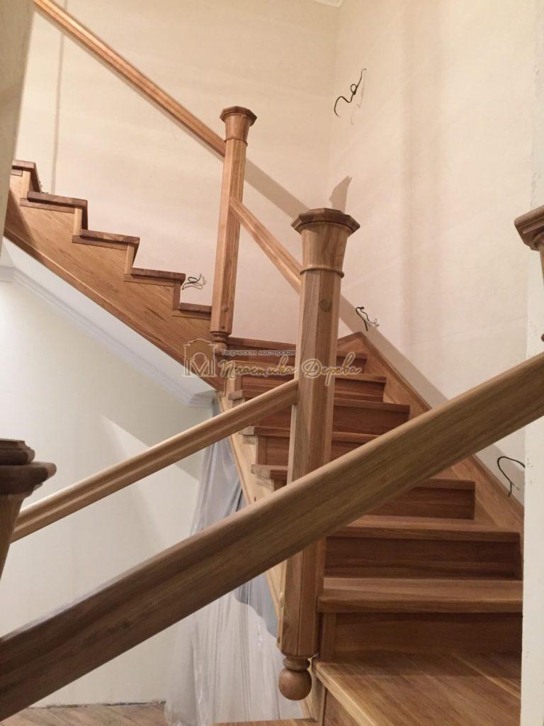 Фото 20 лестницы из дуба (покрытие масловоск)