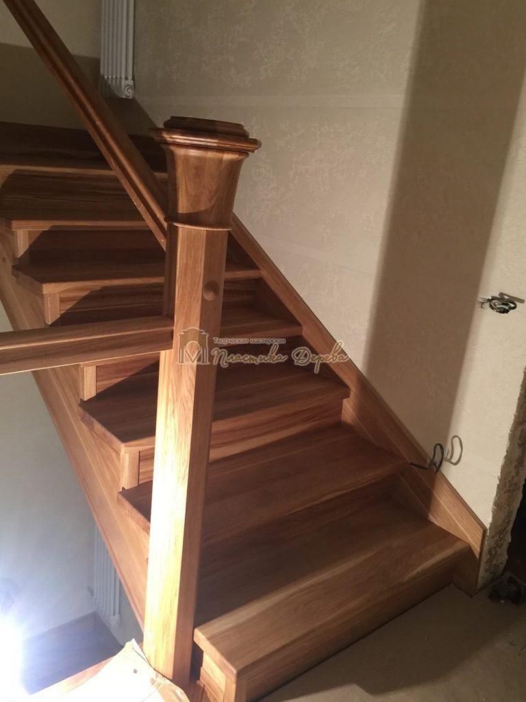 Фото 5 лестницы из дуба (покрытие масловоск)