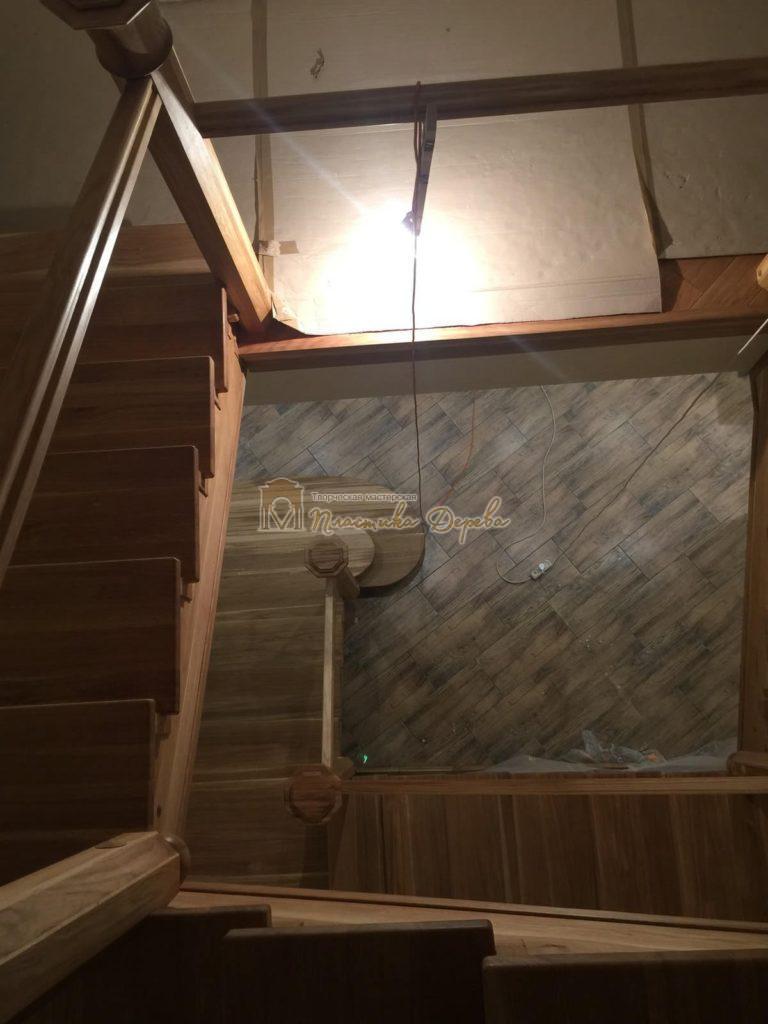 Фото 9 лестницы из дуба (покрытие масловоск)