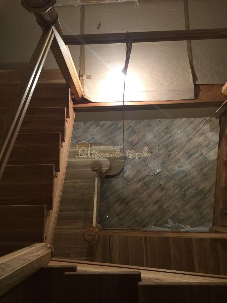 Фото 10 лестницы из дуба (покрытие масловоск)