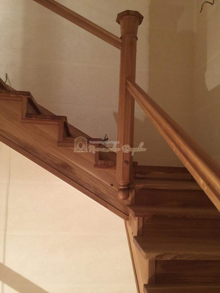 Фото 11 лестницы из дуба (покрытие масловоск)