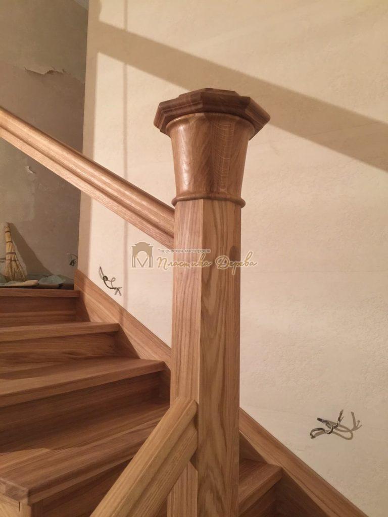 Фото 12 лестницы из дуба (покрытие масловоск)