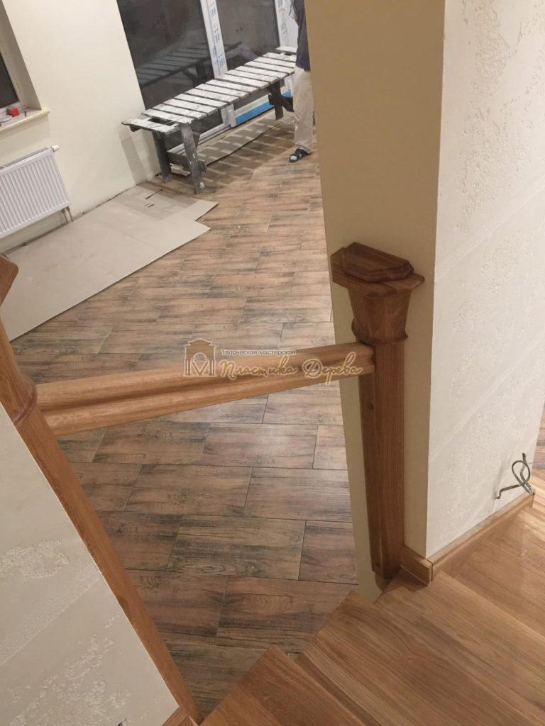 Фото 13 лестницы из дуба (покрытие масловоск)