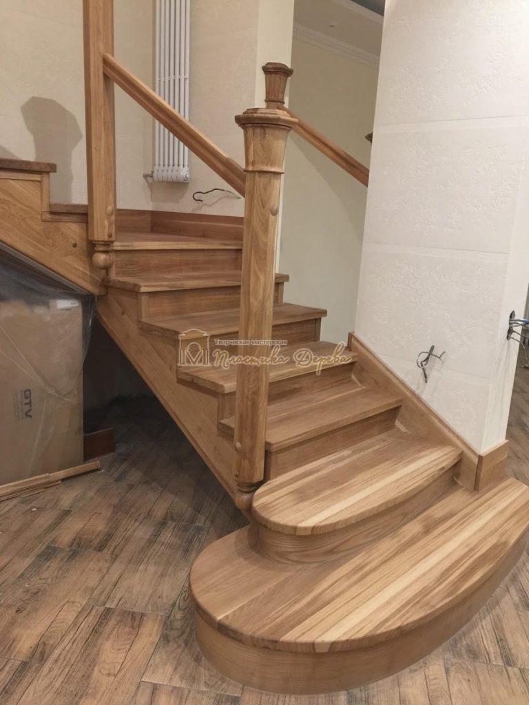 Фото 14 лестницы из дуба (покрытие масловоск)