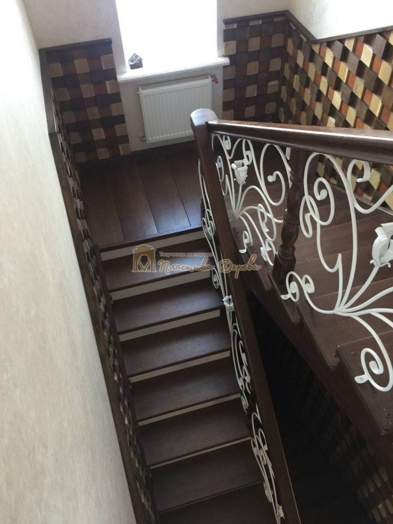 Фото 5 лестницы из дуба с ковкой