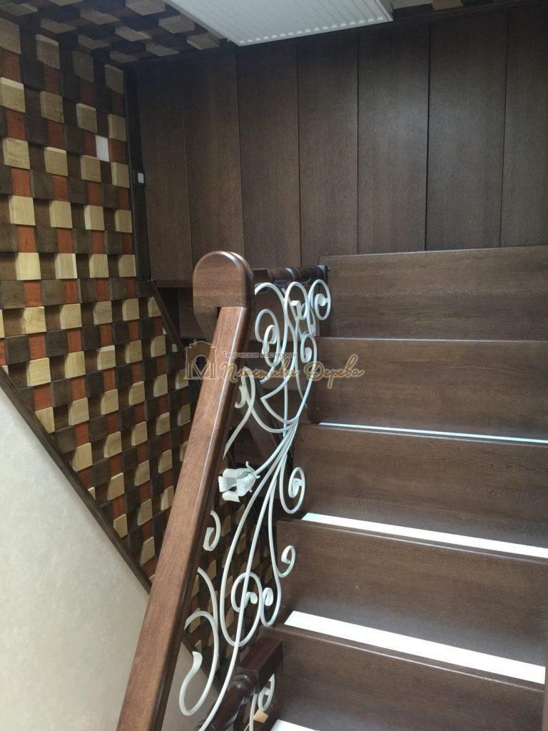 Фото 6 лестницы из дуба с ковкой