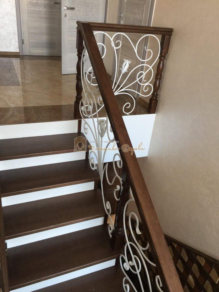 Фото 7 лестницы из дуба с ковкой