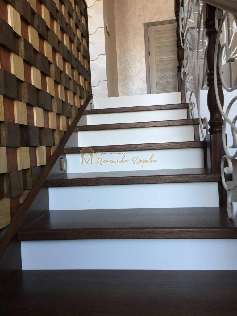Фото 9 лестницы из дуба с ковкой