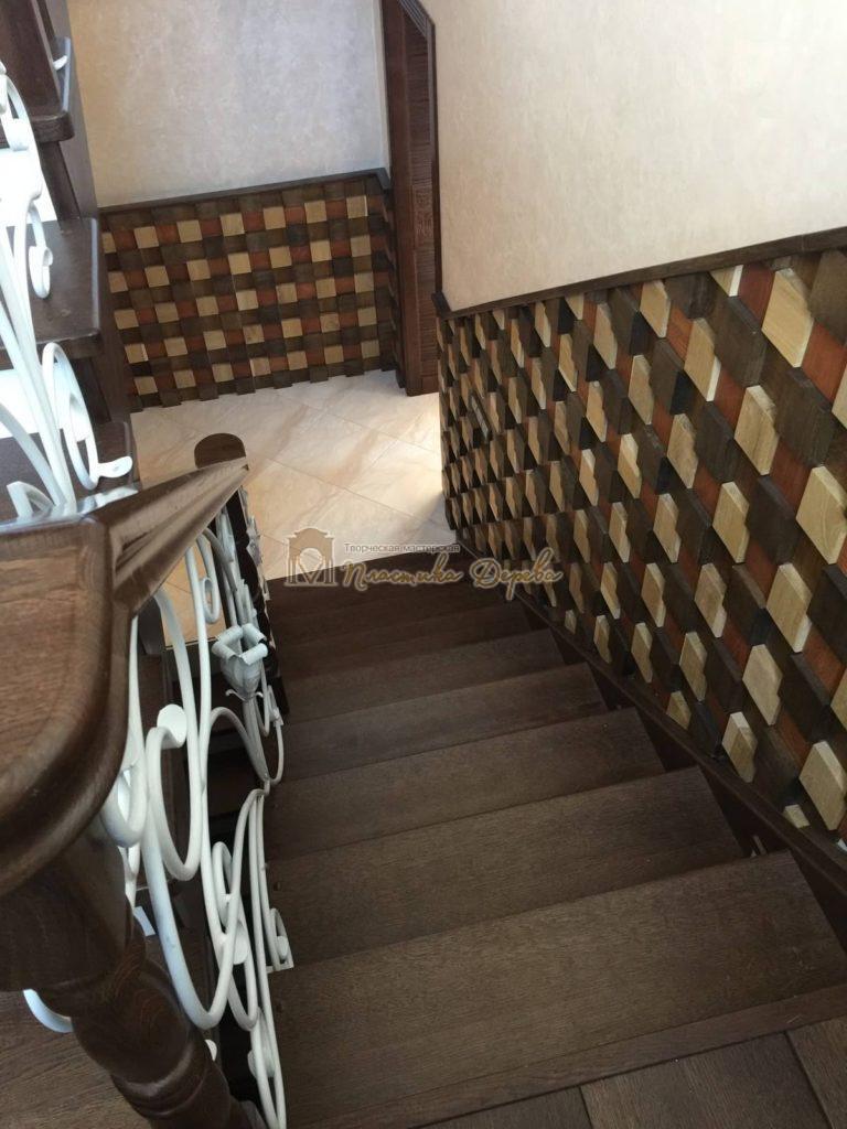 Фото 10 лестницы из дуба с ковкой