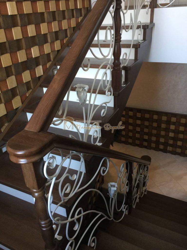 Фото 11 лестницы из дуба с ковкой