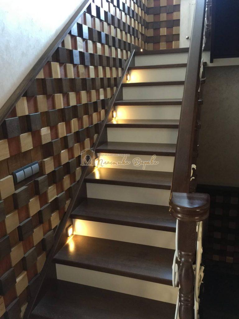 Фото 13 лестницы из дуба с ковкой