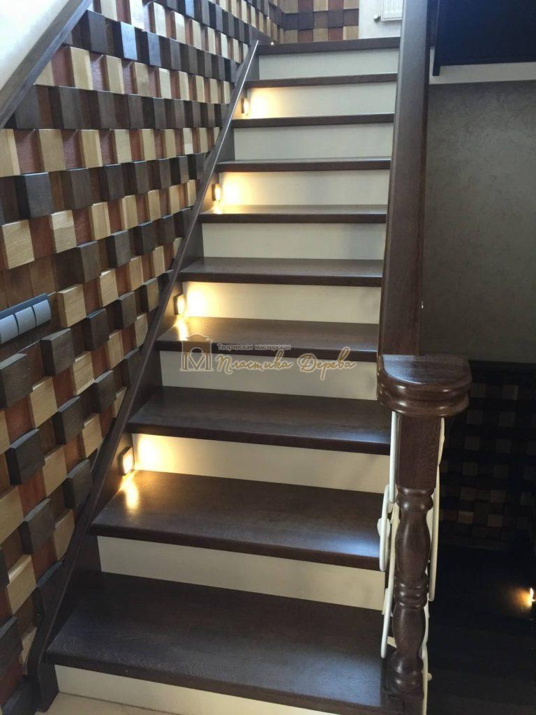 Фото 14 лестницы из дуба с ковкой