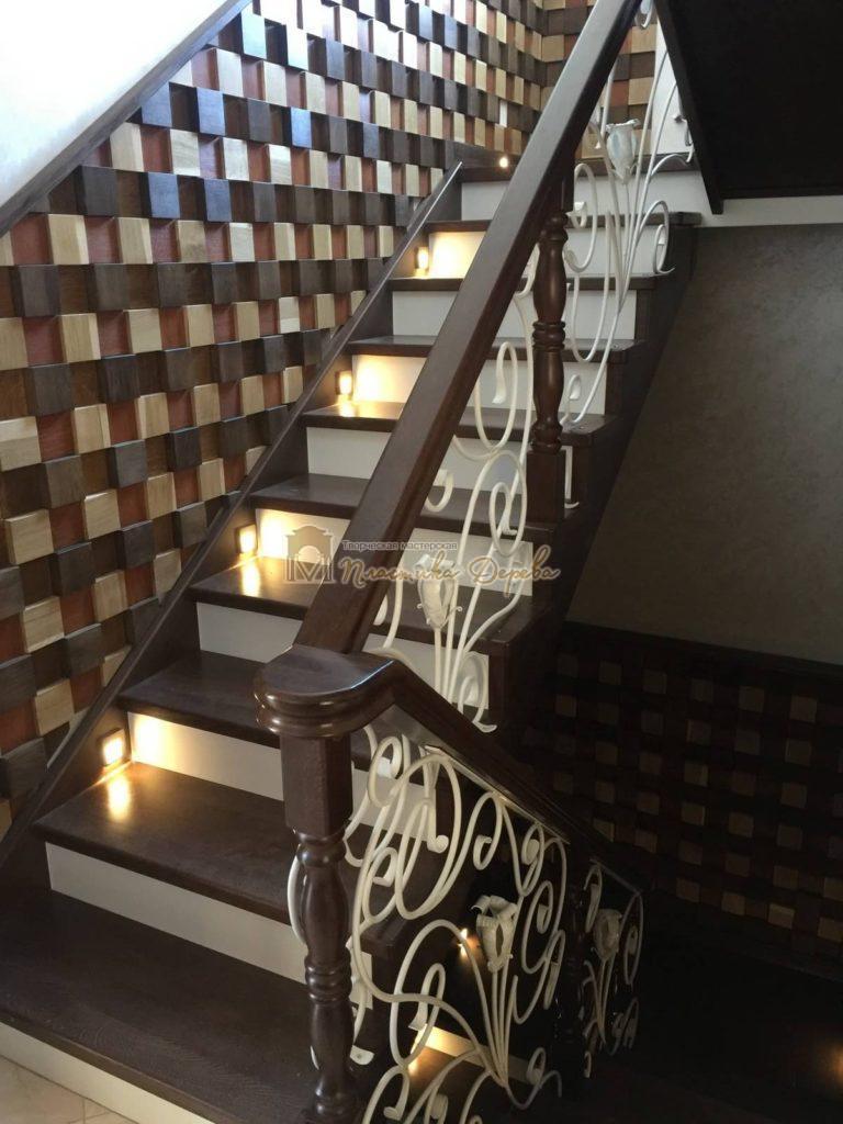 Фото 15 лестницы из дуба с ковкой