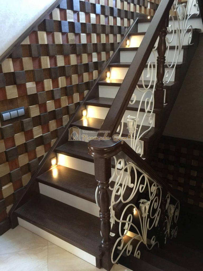 Фото 16 лестницы из дуба с ковкой