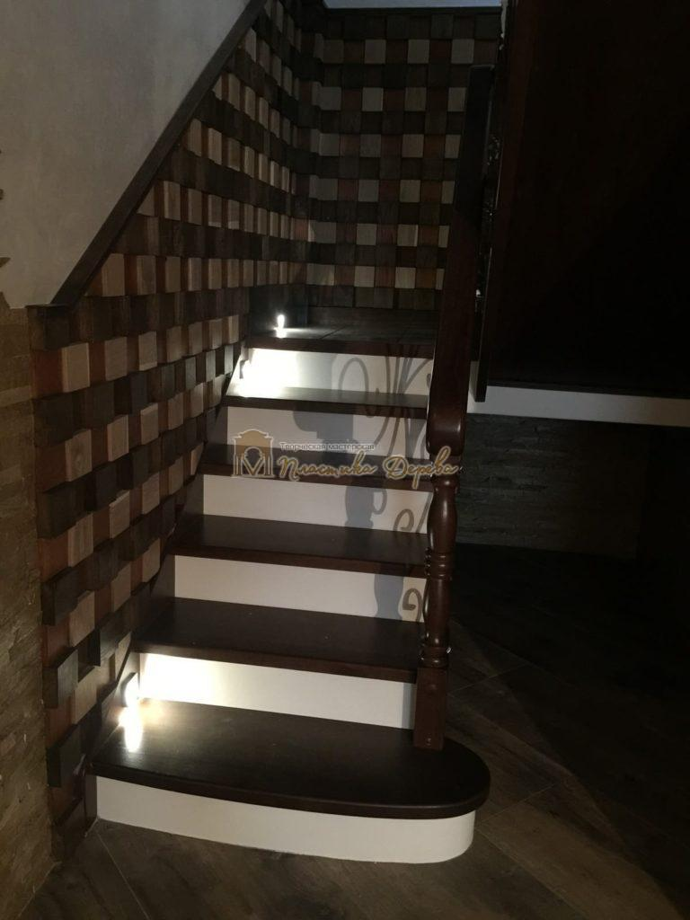 Фото 17 лестницы из дуба с ковкой