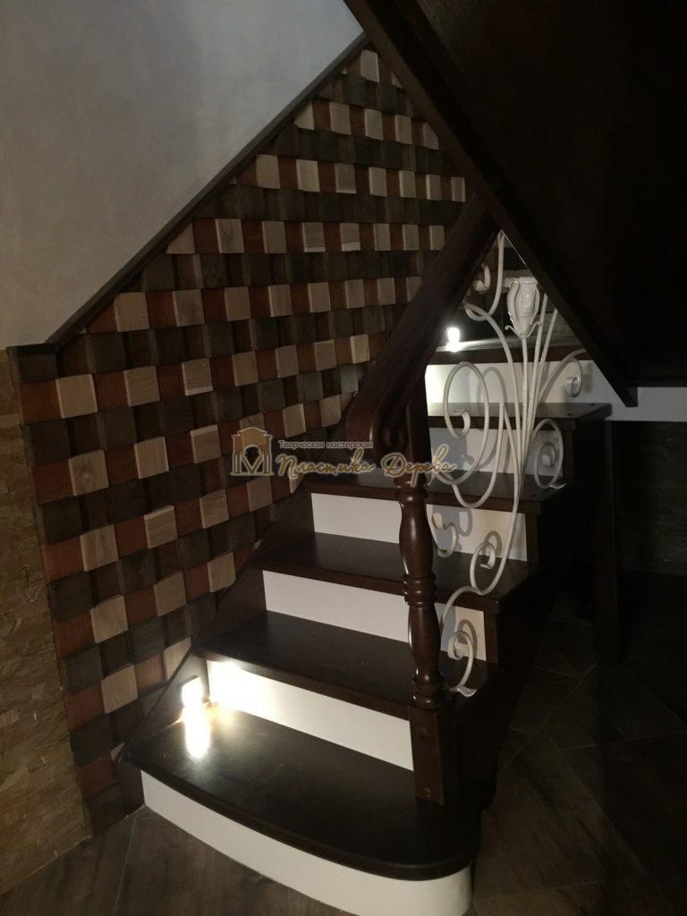 Фото 18 лестницы из дуба с ковкой