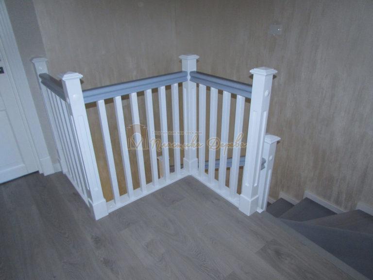 Фото 18 лестницы из ясеня с квадратными балясинами