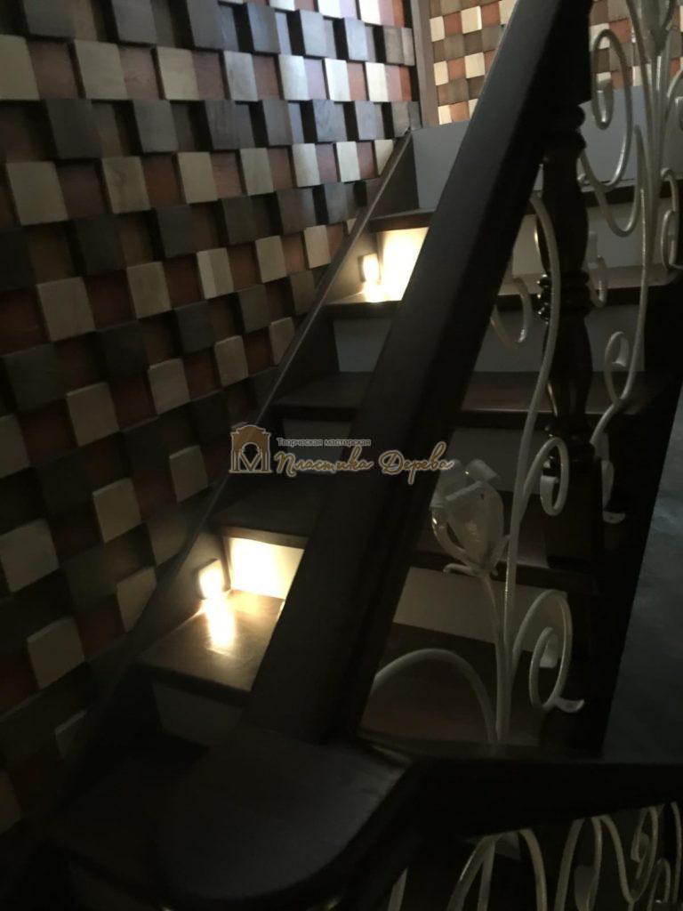 Фото 19 лестницы из дуба с ковкой