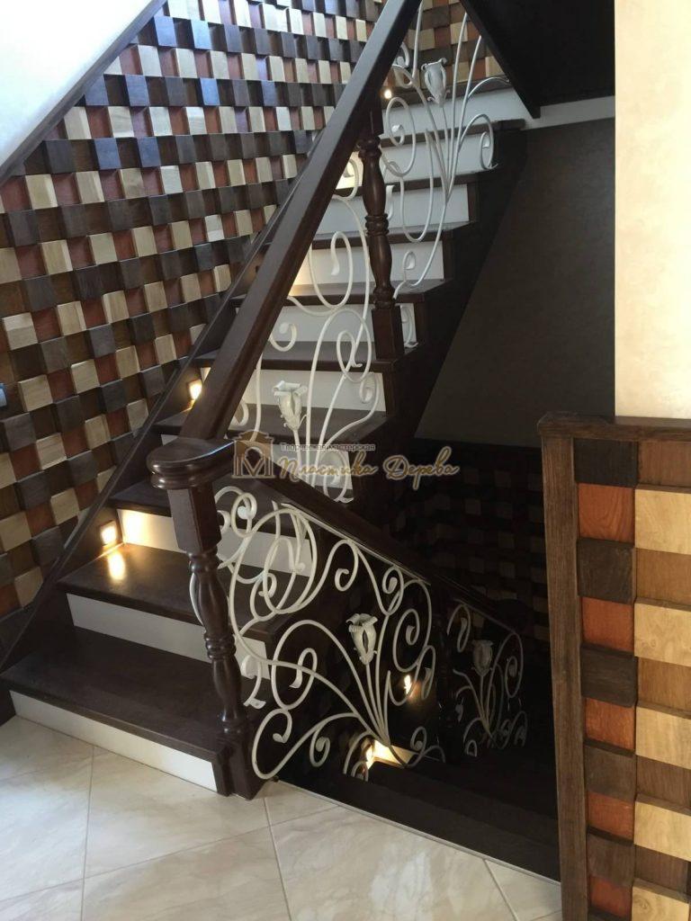 Фото 20 лестницы из дуба с ковкой