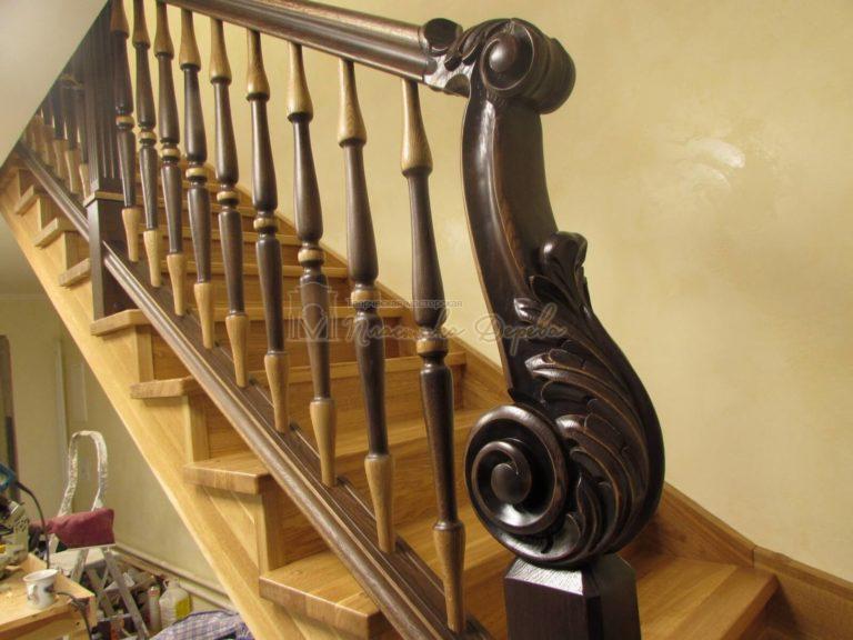 Фото 29 лестницы из дуба в испанском стиле