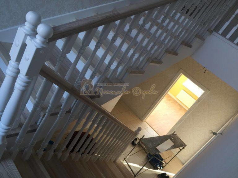 Фото 19 маршевых лестниц из дерева