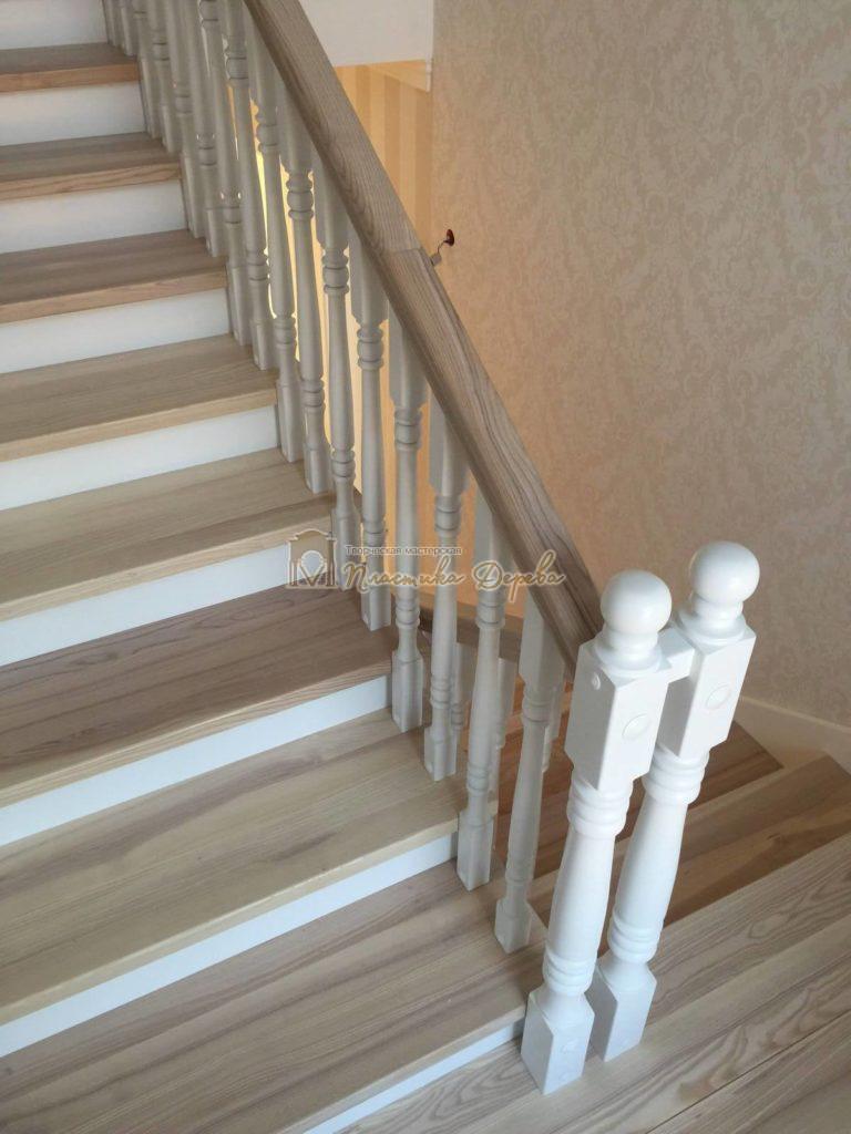 Фото 18 маршевых лестниц из дерева