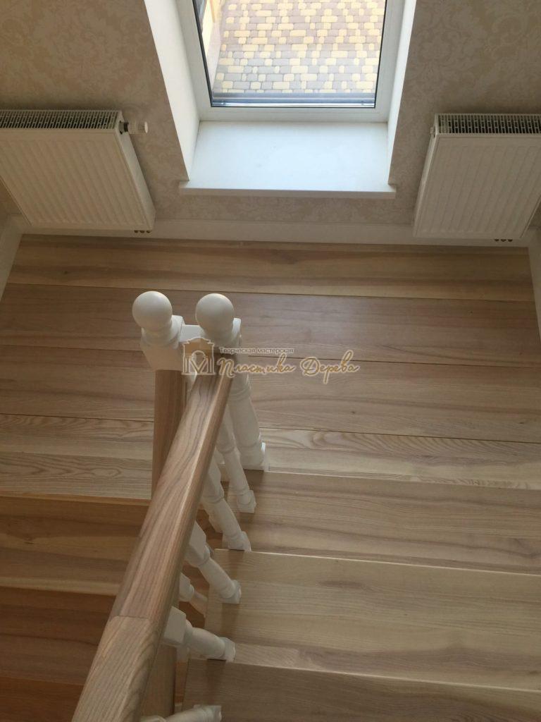 Фото 17 маршевых лестниц из дерева