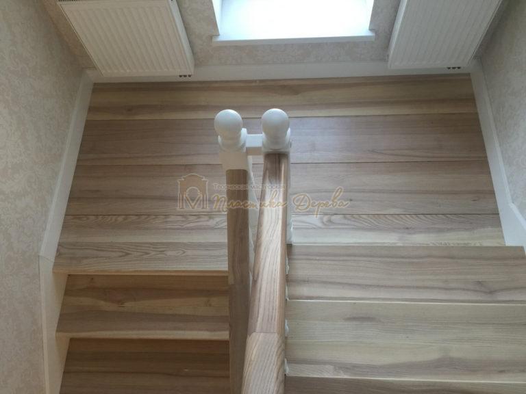Фото 16 маршевых лестниц из дерева