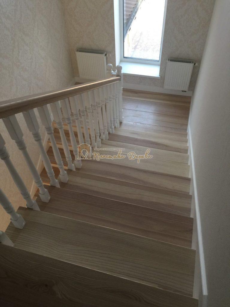 Фото 15 маршевых лестниц из дерева