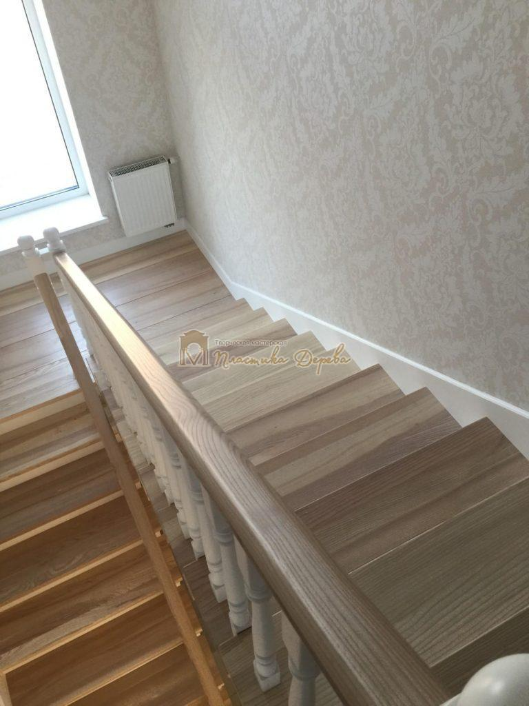 Фото 14 маршевых лестниц из дерева