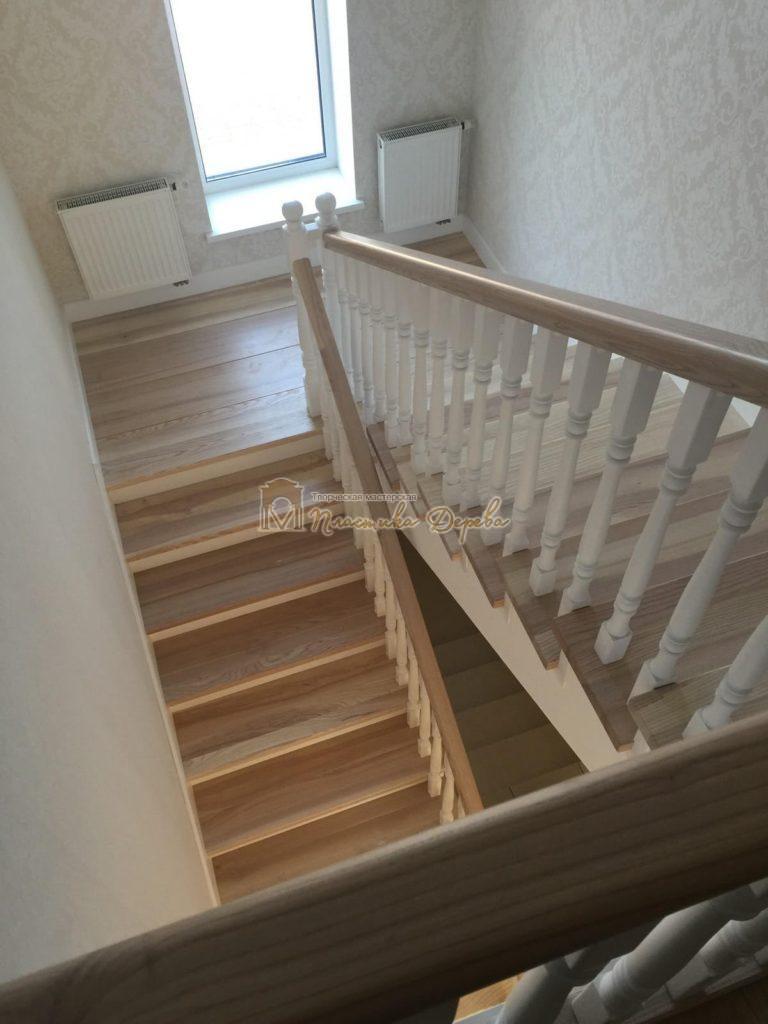 Фото 13 маршевых лестниц из дерева