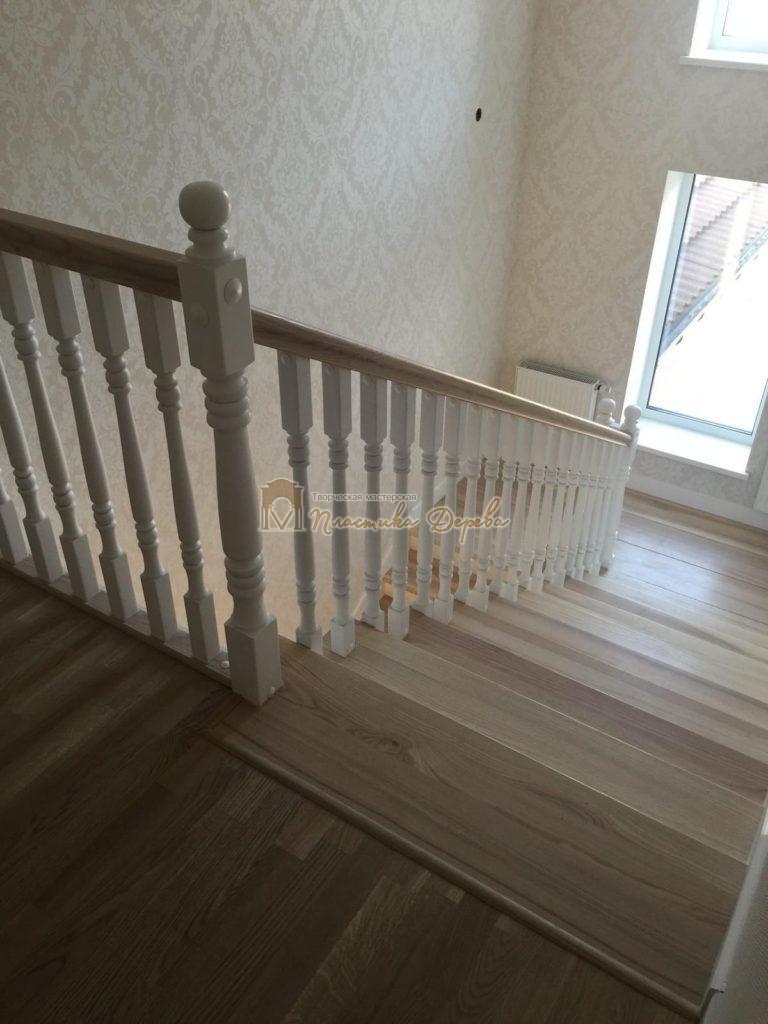 Фото 11 маршевых лестниц из дерева