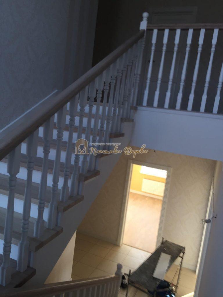 Фото 9 маршевых лестниц из дерева