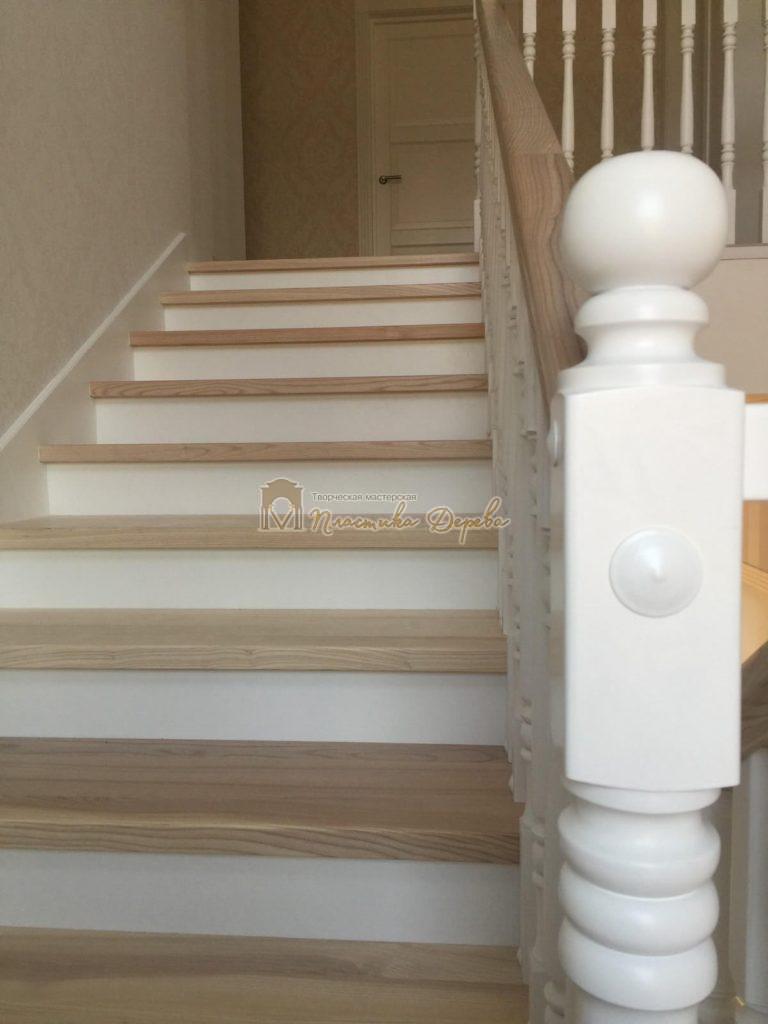 Фото 8 маршевых лестниц из дерева