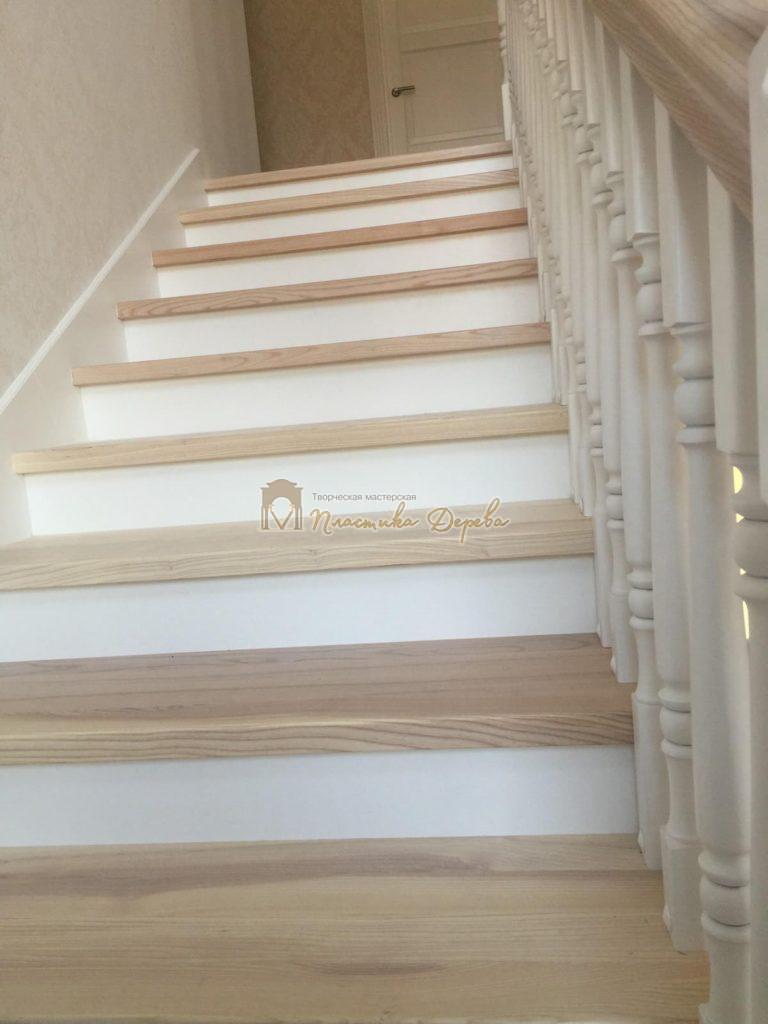Фото 7 маршевых лестниц из дерева