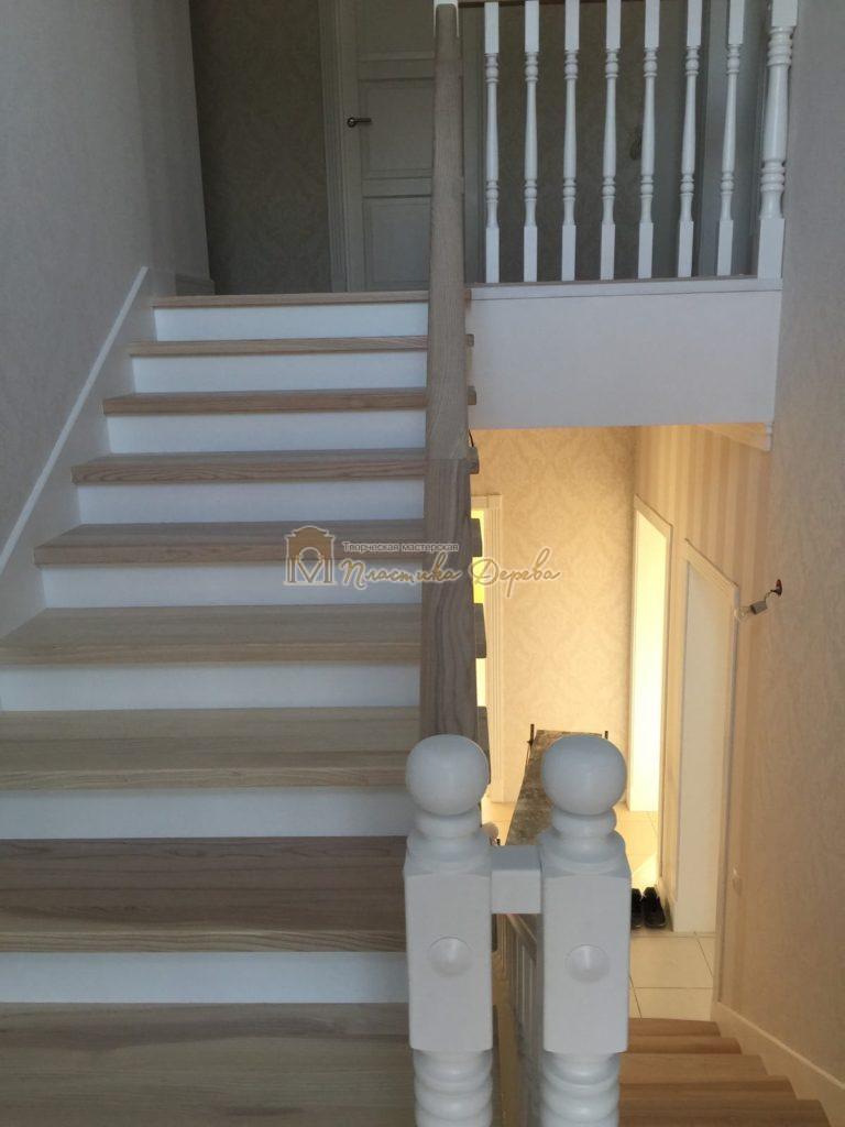 Фото 38 маршевых лестниц из дерева