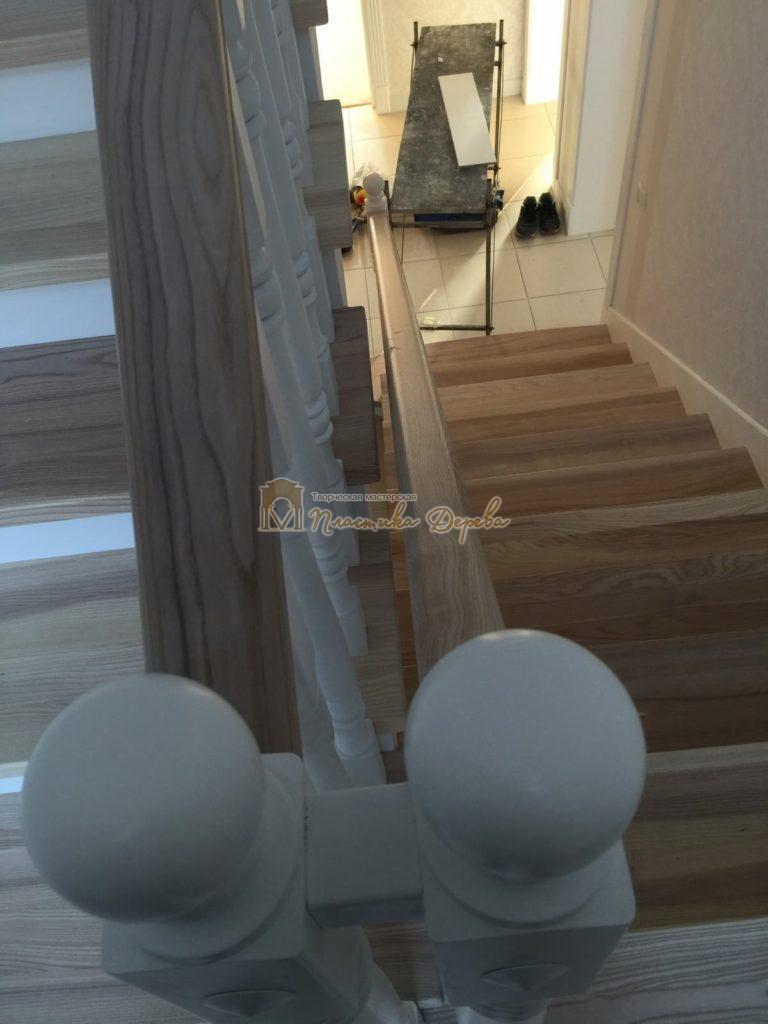 Фото 37 маршевых лестниц из дерева