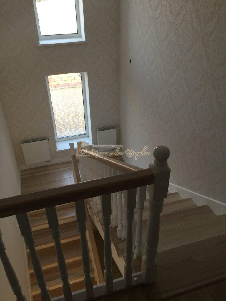 Фото 36 маршевых лестниц из дерева