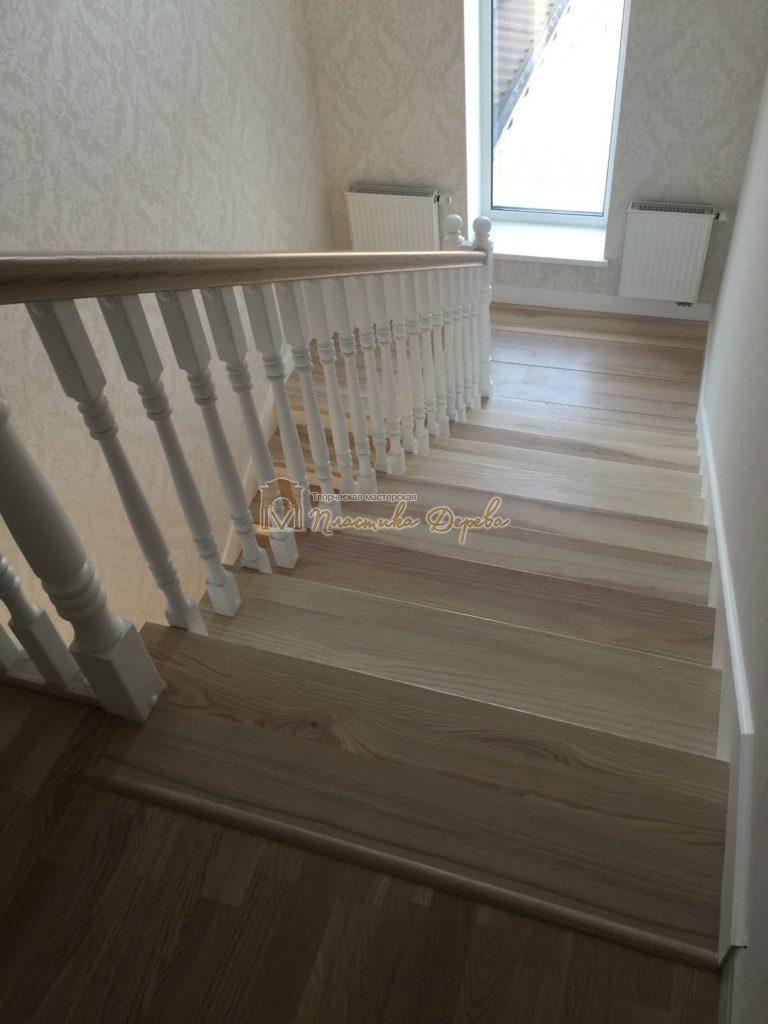 Фото 35 маршевых лестниц из дерева